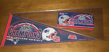 2004 PATRIOTS AFC CHAMPIONS PENNANT & LICENSE PLATE - SUPERBOWL XXXIX -  NEW