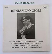 BENIAMINO GIGLI - Beniamino Gigli - Excellent Condition LP Record Pearl GEMM 146