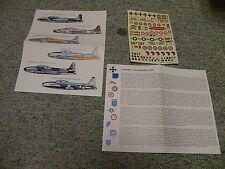 Esci decals 1/72 T-33A Shooting Star Italy Luftwaffe RCAF USN RNAF variants N150