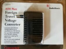 Foreign Travel Voltage Converter 1600 Watt From Radioshack. New