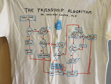 Big Bang the Friendship Algorithm T shirt L NEUF