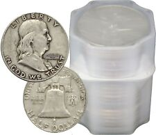 FULL DATES Roll of 20 $10 Face Value 90% Silver Franklin Half Dollars