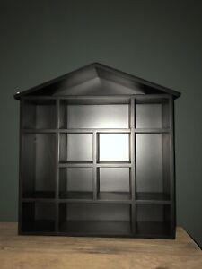 Wall Shelf Unit House Black