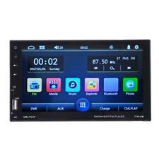 """7"""" HD LCD Touch Screen 2Din Bluetooth Car Stereo MP5 FM Radio USB Charger TF AUX"""