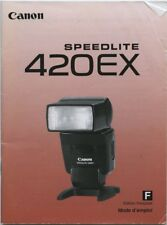 Canon Speedlite 420EX instruction manual (French version) 2000