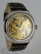 PIECE UNIQUE montre coussin squelette 6497 UNITAS Swiss Skeleton watch Uhr