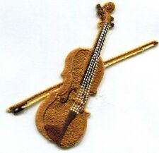 MUSICAL VIOLIN IRON ON PATCH 3 1/4 X 3 1/4 inch