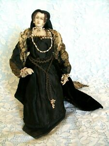 """MARY QUEEN OF SCOTS DOLL tagged made in 1930s, Liberty Doll 12"""""""