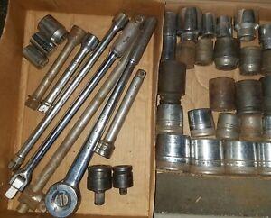 """SK TOOLS 47170 3/4"""" Dr  Ratchet Socket Set 37pcs New Britain Craftsman Williams"""