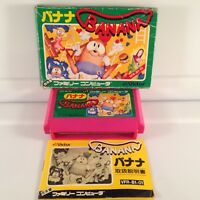 BANANA Japan Famicom FC Nintendo NES Boxed