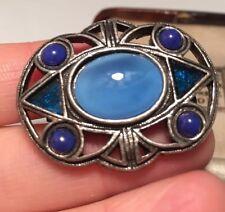 enamel and moonstone brooch vintage jewellery beautiful Scottish