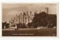 Swansea University Singleton Abbey Vintage RP Postcard Glamorgan Wales 113c