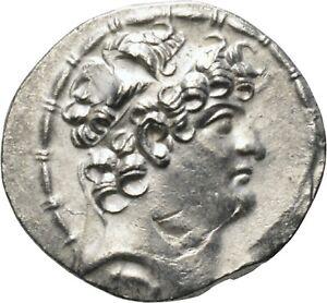 DIONYSOS Philippos Philadelphos AR-Tetradrachme Antiochia Zeus #MZ 2275