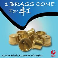 Brass Cone piece - Brass cone - smoking pipe bonza cone smoking pipe