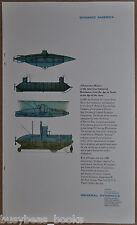 1960 GENERAL DYNAMICS advertisement, Erik Nitsche art, early submarines