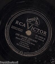 Larry Green on 78 rpm RCA Victor 20-3902: Can Anyone Explain?/All Dressed Up
