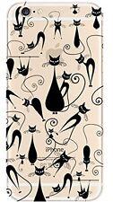 Coque gel souple incassable motif fantaisie pour iPhone 6  (Chats noirs)