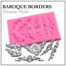 Multi Vintage Baroque Lace Decoration Silicone Mould Floral Love Sugarcraft
