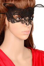 Womens Lace Venetian Masquerade Ball Halloween Party Costume Eye Masks Black