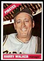 1966 Topps Baseball Harry Walker Pittsburgh Pirates #318