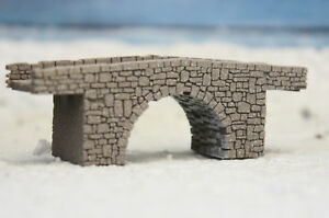 Track Z (1:220) Stone Arch Bridge Laser Engraved PROFESSIONALLY PAINTED