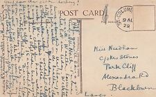 Miss Needham, c/o Mrs Stones, 'Park Cliff', Alexandra Road Blackburn 1929 JZ3.74