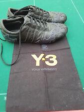 RARE - Y3 YOHJI YAMAMOTO - Black & Blue Leather Trainers Shoes 5 UK