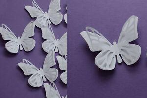 20 Set 3D Schmetterlinge  Weiß Wandtattoo Wanddeko