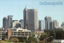 Skyline of Indianapolis, Indiana, OneAmerica Tower etc., Downtown IN -- Postcard