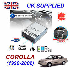 For Toyota Corolla MP3 SD USB CD AUX Input Audio Adapter CD Changer Module 5+7pn
