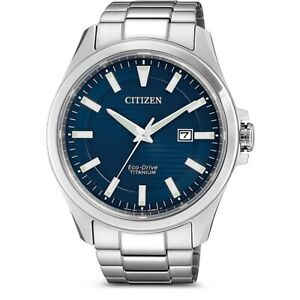 Citizen Men's Eco-Drive Titanium Watch BM7470-84L NEW