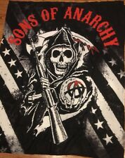 Sons of Anarchy Soft Plush Throw Gift Blanket Reaper SOA Stars & Stripes NEW
