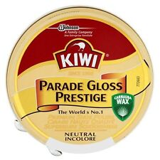 KIWI PARADE GLOSS NEUTRAL TIN 50ml HIGH SHINE ARMY BOOT POLISH (FREE P&P)