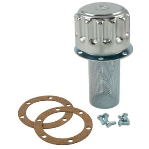 """Chrome Plated Steel 40 Micron Filler Breather Hydraulic Accessory 1/4""""-3/4"""""""