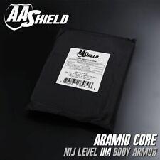 AA Shield Plaque insert balistique gilet par-balles panneau aramide IIIA 8x10
