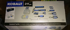 Kobalt Household Tool Set with Case Polished Chrome Soft 211-Piece Steel New