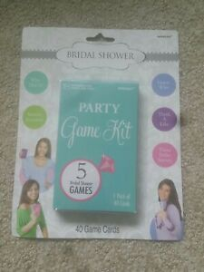 Bridal Shower Party Card Game 40 Cards, 5 Games