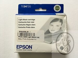 EPSON T0347 / T034720 LIGHT BLACK INK for PHOTO Stylus 2200 - NIB - 2008 & 2014