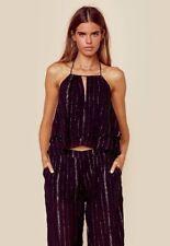 2017 NWT WOMENS VOLCOM HOOK IT UP HALTER TOP $68 S black stone row shirt