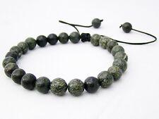 Russian Serpentine Men's Shamballa bracelet all 8mm  NATURAL stone beads