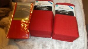 MAINSTAYS 200 THREAD COUNT DARK RED TWIN SHEET SET  + 2 PILLOWCASES  NEW TAGS