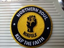 NORFOLK NORTHERN SOUL  SEW OR IRON ON  PATCH