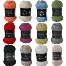 Cygnet Cottony DK Wool 50g Double Knit / Knitting Cotton Crochet Yarn