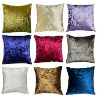 HANDMADE CRUSHED VELVET CUSHION PILLOW CASE COVER WITH INVISIBLE CONCEALED ZIP