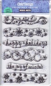 THE JOY OF WINTER - Hero Arts Poly Clear Stamp Set - CHRISTMAS