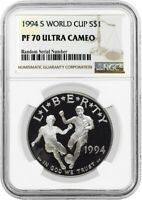 1994 S $1 World Cup Tournament Commemorative Silver Dollar NGC PF70 UC