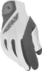 Fly Racing Ladies CoolPro II Gloves White/Gray Medium #5884 476-62113 476-6211M