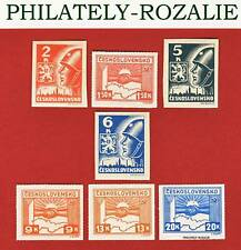CZECHOSLOVAKIA SET STAMPS MNH  ** 1945 Mi 408/414 KOSICE ISSUE (55-60)