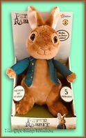 TALKING PETER RABBIT THE MOVIE PLUSH TOY BOXED OFFICIAL SUPER GIFT JAMES CORDON