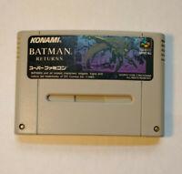 Batman Returns (Nintendo Super Famicom SNES SFC, 1993) Japan Import
